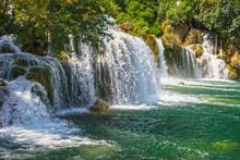Croatia Natural Landscape, Waterfall Lake In Krka Park