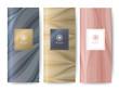 Branding Packaging Nature abstract background, logo banner voucher, rose gold golden color fabric pattern. vector illustration.
