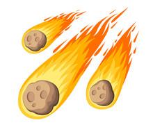 Flame Meteorite. Meteor Rain F...