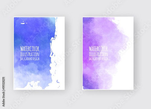 Fototapety, obrazy: Watercolor design banners