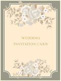 vector vintage wedding card..
