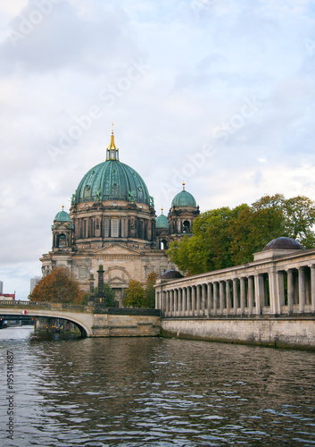 Berliner Dom (Berlin cathedral) over Spree river Poster