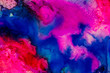 canvas print picture Watercolor with blue, purple and red.