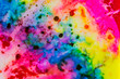 canvas print picture Watercolor with rainbow colors.