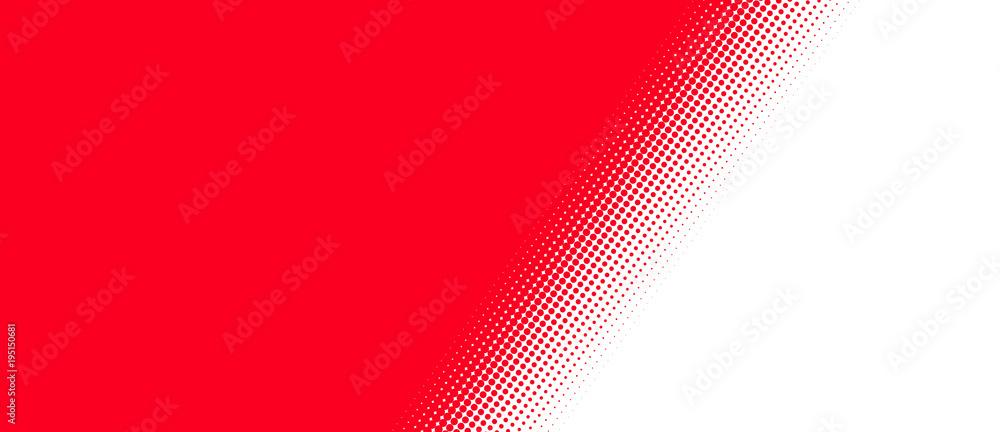 Fototapety, obrazy: Rot weißer Hintergrund mit diagonalem Übergang