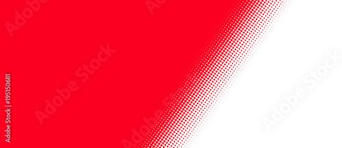 Fotografie, Obraz  Rot weißer Hintergrund mit diagonalem Übergang