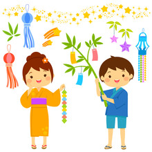 Tanabata Star Festival In Japa...