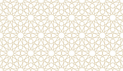 Seamless pattern in authentic arabian style.