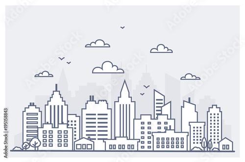 Fotografía  Thin line City landscape