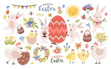 Collection Of Cute Easter Cart...