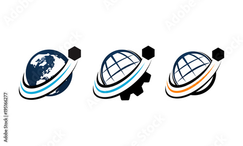 Fényképezés  Global Shipping Template Vector