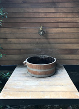 Classic Wooden Wash Basin With...