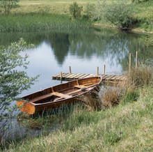 A Traditional Rowing Boat Moor...