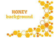 Honey Abstract Background With...