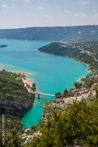 Spoed Foto op Canvas Turkoois Grand Canyon du Verdon, Verdonschlucht