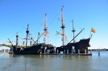 Historic Galleon Ships Moored