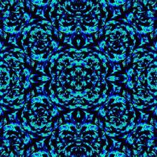 Dark Stylized Floral Seamless Pattern