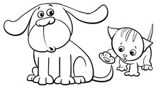 Puppy And Kitten Characters Ca...