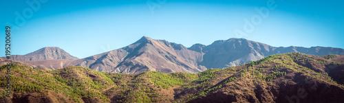 Photo  Desert road with Atlas Mountains, Morocco