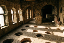 Ancient Stone Room For Wine Making, Alcohol Industry