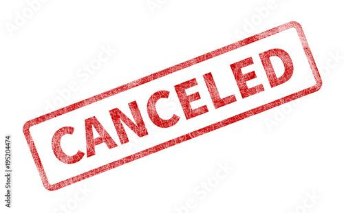Fotomural  Canceled Stamp - Red Grunge Seal