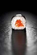 Maki Sushi Roll With Salmon