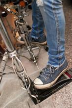 Drummer's Sneakers On Drummer Kit.