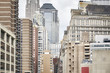 View of old and modern Manhattan buildings, New York City, USA.