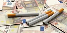 Smoking Cost Concept. Cigarett...