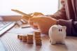 Leinwanddruck Bild - Savings, finances, economy and home budget