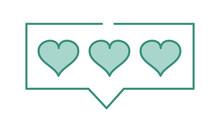 Duo Color Hearts Love Symbol I...