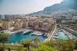 Panorama und Sehenswürdigkeiten des Fürstentum Monaco im Sommer