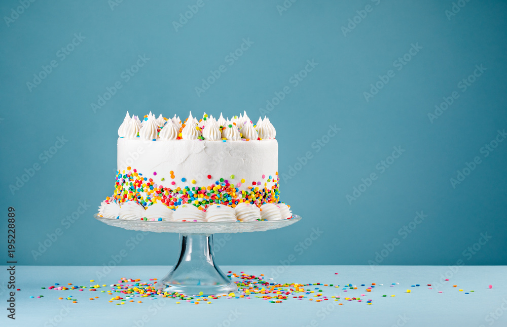 Birthday Cake with Sprinkles