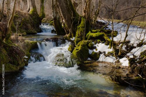 Fotografering  Bach im Winter