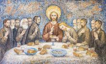 CARAVAGGIO, ITALY - 24-8-2016. Mosaic : The Last Supper