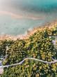 Coastal city and ocean