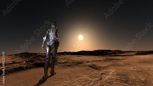 Obraz na płótnie Science Fiction Space Exploration 3D Render
