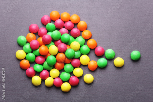 Garden Poster Candy Colorful sweet candies on a grey