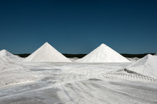 Salt Pile Against Blue Sky In ...