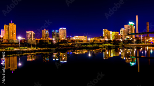 Birmingham skyline at night Wallpaper Mural