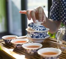 Oriental Female Chinese Tea Making Tea Ceremony