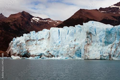 Patagonia, Perito Moreno Glacier in a cloudy day.