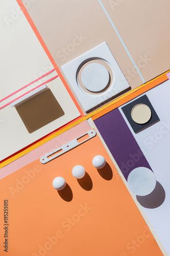 Foto op Aluminium Historisch geb. Abstract geometrical compostion/background