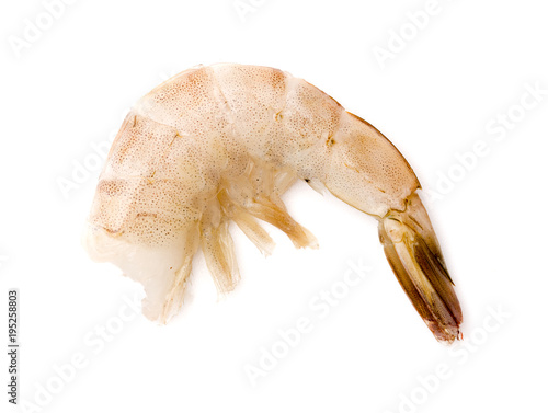 Raw Jumbo Shrimp On A White Background Buy This Stock Photo And