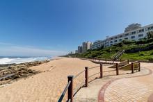 Beach  Rocks Ocean Waves Blue Coastal City Skyline