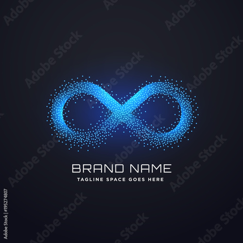 Fotografia  futuristic infinity logo concept design vector
