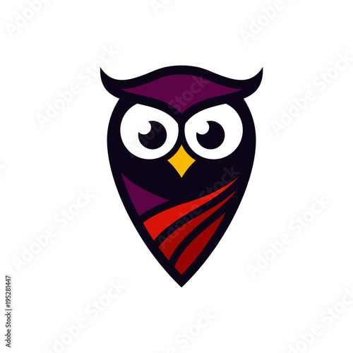 Photo Stands Owl Logo Stock Images