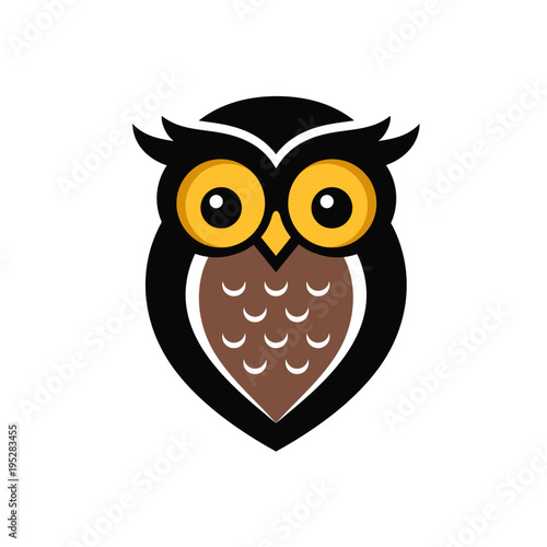 Photo Stands Owls cartoon Owl Logo Stock Images