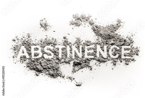 Abstinence word written in ash, sand or dust Canvas Print