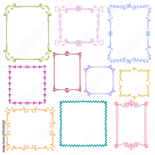 31a9fe2f247 Babies and Kids photo frames vector set